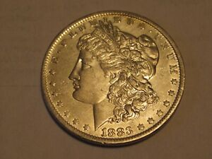 1883 O AU MORGAN SILVER DOLLAR 90  SILVER $1 COIN US Q25