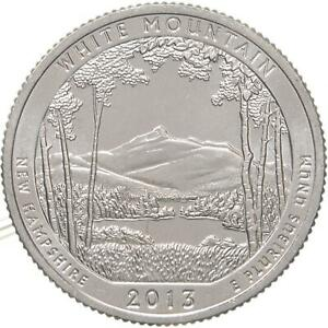 2013 S PARKS QUARTER ATB WHITE MOUNTAIN NATIONAL FOREST CHOICE BU CN CLAD COIN