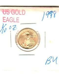 1998 $5 1/10TH OZ AMERICAN EAGLE GOLD COIN  UNCIRCULATED