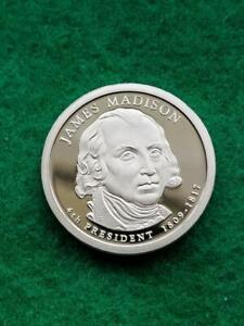 2007  S  JAMES MADISON    PROOF  PRESIDENTIAL DOLLAR COIN