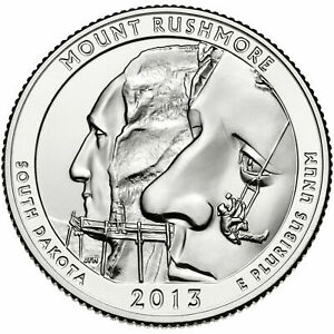 2013 P MOUNT RUSHMORE SOUTH DAKOTA WASHINGTON QUARTER   CIRCULATED
