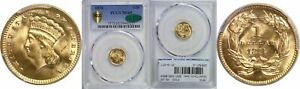 1874 $1 GOLD COIN PCGS MS 65 CAC