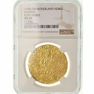 Click now to see the BUY IT NOW Price! [489363] COIN NETHERLANDS NOBLE D'OR CAMPEN NGC MS63 GOLD GRADED