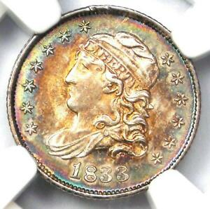 Click now to see the BUY IT NOW Price! 1833 CAPPED BUST HALF DIME H10C COIN RAINBOW TONE   NGC MS66   $5 250 VALUE