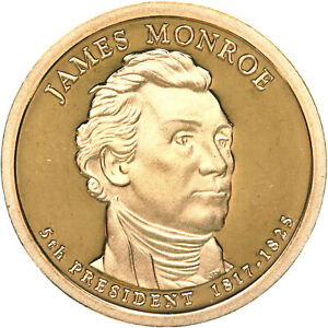 2008 S PRESIDENTIAL DOLLAR JAMES MONROE GEM DEEP CAMEO PROOF