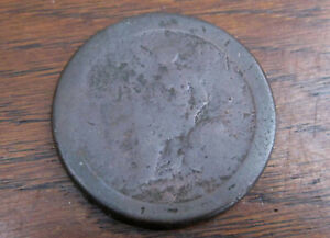 1727 TOKEN AMERICAN BRITISH COLONIAL WORN NOT SURE ABOUT EXACT DATE