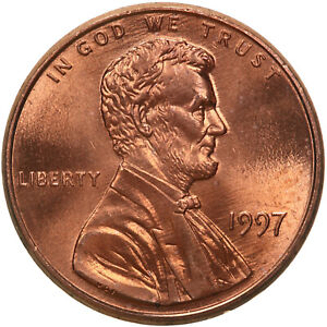 1997 LINCOLN MEMORIAL CENT CHOICE BU PENNY US COIN