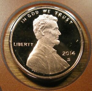 2014 S LINCOLN SHIELD CENT PROOF COIN