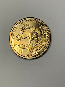 2012 D SACAGAWEA DOLLAR WITH HORSE AND CHIEF REVERSE