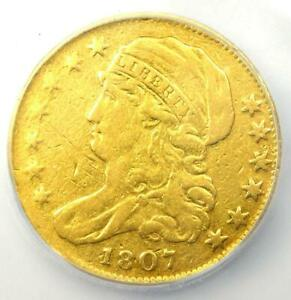 1807 CAPPED BUST GOLD HALF EAGLE $5   ICG VF20 DETAILS    GOLD COIN