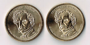 2010 P & D FRANKLIN PIERCE PRESIDENTIAL DOLLARS SET