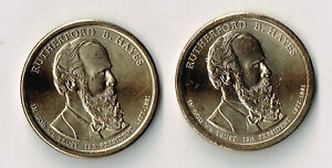 2011 P & D RUTHERFORD B. HAYES PRESIDENTIAL DOLLARS SET