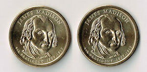 2007 P & D JAMES MADISON PRESIDENTIAL DOLLARS SET