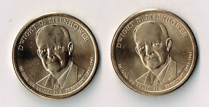 2015 P & D DWIGHT D EISENHOWER PRESIDENTIAL DOLLARS SET