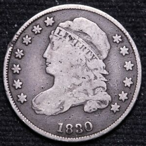 1830 CAPPED BUST DIME CHOICE VG  E727 KNF