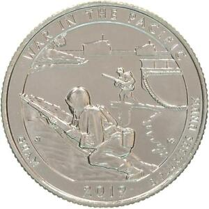 2019 S PARKS QUARTER ATB WAR IN THE PACIFIC NATIONAL PARK BU CN CLAD US COIN