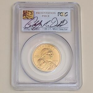 Click now to see the BUY IT NOW Price! 2000 P SACAGAWEA DOLLAR   PCGS SP 68   PRESENTATION GLENNA GOODACRE   SIGNED
