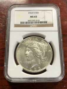 Click now to see the BUY IT NOW Price! 1923 S $1 PEACE SILVER DOLLAR NGC MS65
