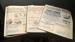 NUMISMASTIC NEWS MAGAZINES  LOT OF 3  FOR COIN COLLECTORS