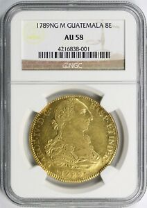 Click now to see the BUY IT NOW Price! 1789NG M GUATEMALA GOLD 8 ESCUDOS NGC AU58   POP 1