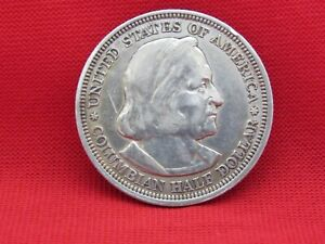 1893 COLUMBIAN EXPOSITION SILVER HALF DOLLAR. USED
