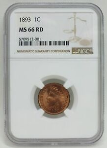 Click now to see the BUY IT NOW Price! 1893 INDIAN HEAD CENT PENNY NGC MS66 RD CERTIFIED   PHILADELPHIA MINT   BJ584