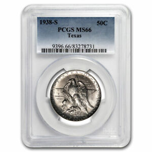 1938 S TEXAS CENTENNIAL COMMEMORATIVE HALF DOLLAR MS 66 PCGS   SKU197196