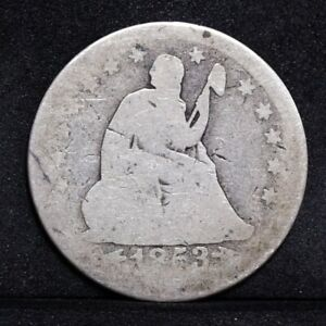 1853 LIBERTY SEATED QUARTER   WITH ARROWS & RAYS   AG DETAILS  31984