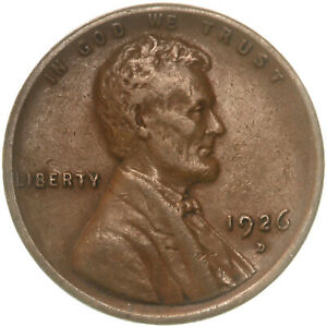 1926 D LINCOLN WHEAT CENT EXTRA FINE PENNY XF