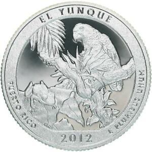 2012 S PARKS QUARTER ATB EL YUNQUE FOREST GEM PROOF DEEP CAMEO CN CLAD COIN