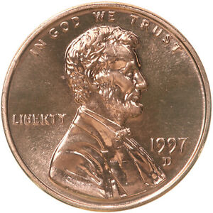 1997 D LINCOLN MEMORIAL CENT CHOICE BU PENNY US COIN