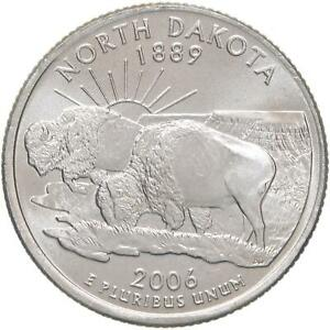 2006 P STATE QUARTER NORTH DAKOTA BU CN CLAD US COIN