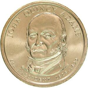 2008 P PRESIDENTIAL DOLLAR JOHN QUINCY ADAMS CHOICE BU CLAD US COIN