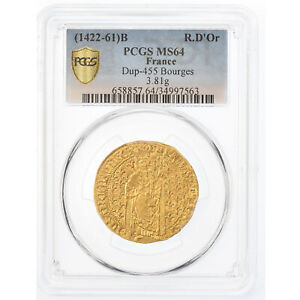 Click now to see the BUY IT NOW Price! [489671] COIN FRANCE CHARLES VII ROYAL D'OR BOURGES PCGS MS64 GOLD