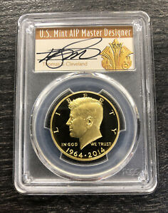Click now to see the BUY IT NOW Price! 2014 50C KENNEDY GOLD 50TH ANNIVERSARY PCGS PR70DCAM THOMAS CLEVELAND SIGNED