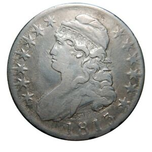 CAPPED BUST HALF DOLLAR 1813 OVERTON 110 DOUBLE STRUCK CLASH COLLECTOR COIN
