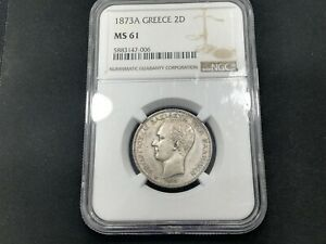 Click now to see the BUY IT NOW Price! GREECE 2 DRACHMAI 1873 UNC NGC MS61
