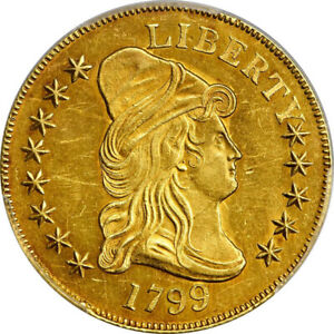 1799 $10 CAPPED BUST EAGLE SMALL OBV STARS PCGS MS61   LUSTROUS