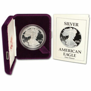 1989 S PROOF AMERICAN SILVER EAGLE GEM ULTRA CAMEO ALL ORIGINAL MINT PACKAGING