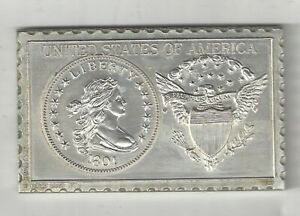 1801 U.S. DRAPED BUST HALF DOLLAR 50 CENTS NUMISTAMP MEDAL COIN MORT REED 1975