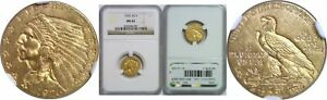 1926 $2.50 GOLD COIN NGC MS 62