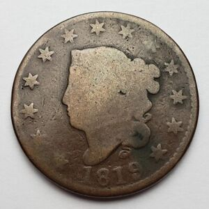 1819 CORONET / MATRON HEAD LARGE CENT