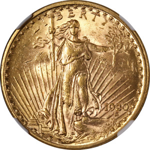 1920 P SAINT GAUDENS GOLD $20 NGC MS61 GREAT EYE APPEAL NICE STRIKE