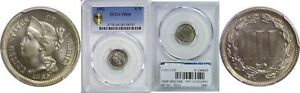 1882 NICKEL THREE CENT PIECE PCGS PR 68