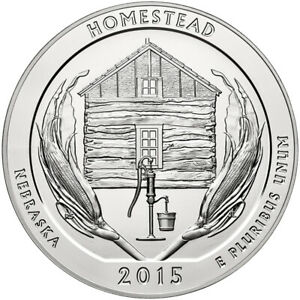 2015 SILVER 5OZ. HOMESTEAD NATIONAL MONUMENT OF AMERICA ATB