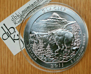 2011 GLACIER MONTANA   AMERICA THE BEAUTIFUL ATB 5OZ .999 SILVER COIN   UNCIRC