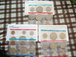 1975 AND 1977 AND 1978 US MINT UNCIRCULATED COIN SET P & D CHOICE UNC BU COIN