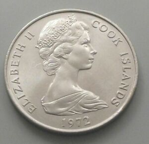 COOK ISLANDS 20 CENTS 1972 DB55