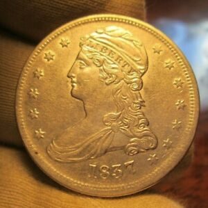1837 CAPPED BUST HALF DOLLAR REEDED EDGE