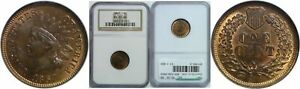 1867 INDIAN HEAD CENT NGC MS 65 RB